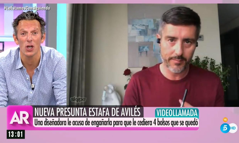 La cara de sorpresa de Joaquín Prat al ver el 'look confinamiento' de un compañero