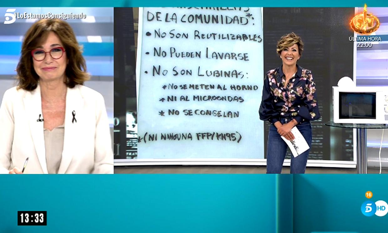 Ana Rosa Quintana destapa el truco de Sonsoles Ónega para parecer más alta