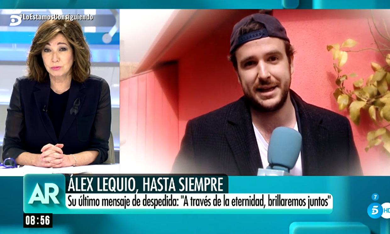 La emoción de Ana Rosa Quintana al despedirse de Álex, el hijo de su compañero Alessandro Lequio