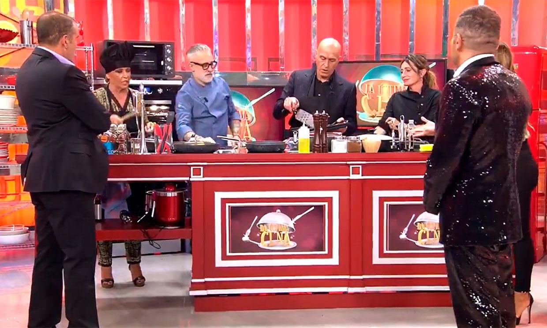 Aprobado gastronómico de Lydia Lozano y Kiko Matamoros en el estreno de 'La última cena'