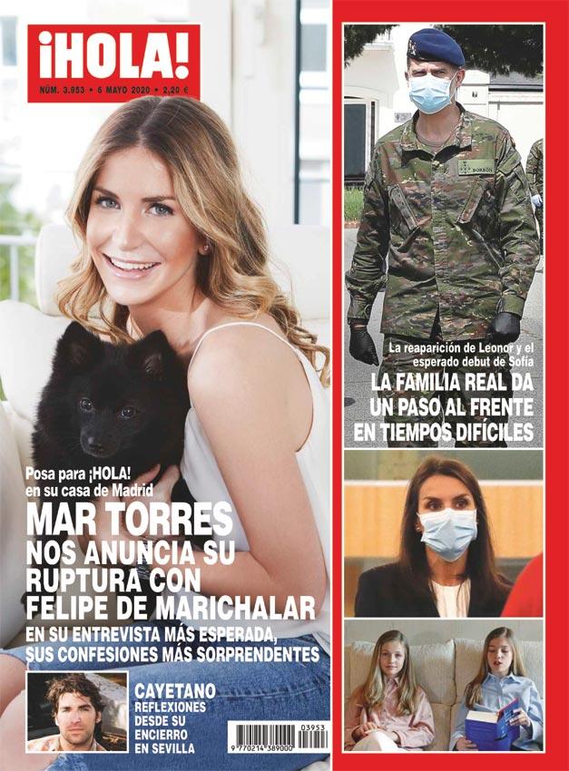 Mar Torres anunciando su ruptura en la portada de ¡HOLA!