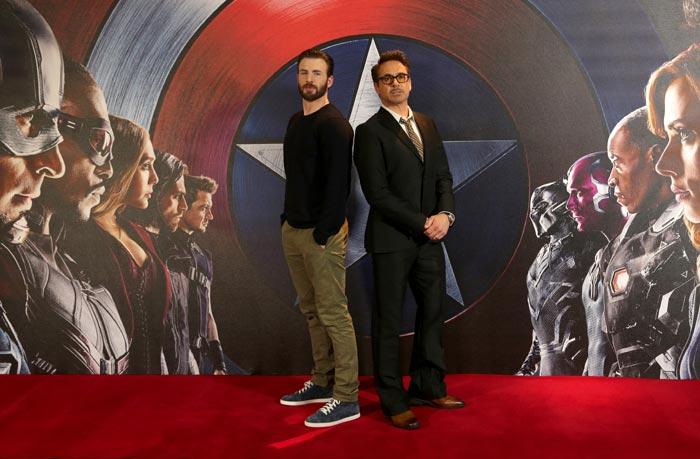 Chris Evans y Robert Downey Jr.