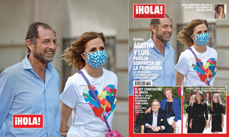 Exclusiva en ¡HOLA!: Ágatha Ruiz de la Prada y Luis Gasset, pareja sorpresa de la primavera