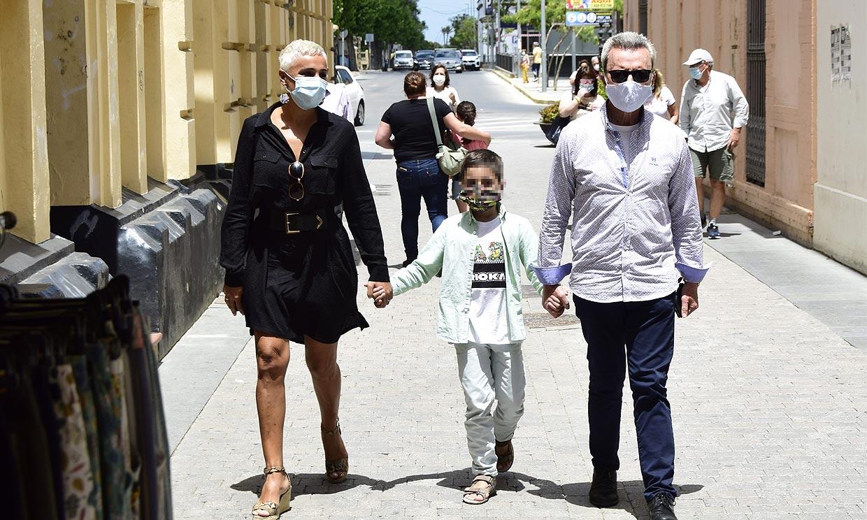 Ana María Aldón se reencuentra con Ortega Cano y su hijo cuatro meses después