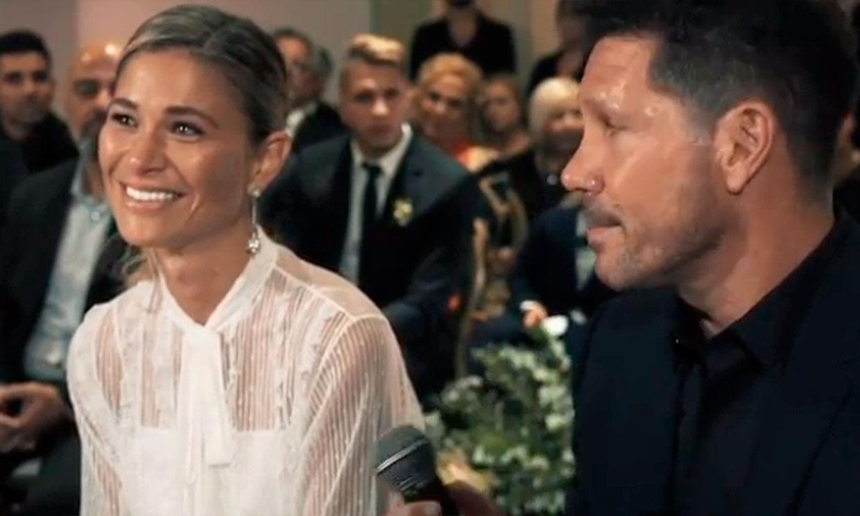 Carla Pereyra rescata la declaración de Simeone en su boda: 'Es una buena piba y la amo mucho'