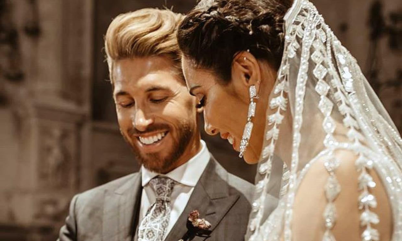 Pilar Rubio y Sergio Ramos abren el álbum de su boda y publican fotos inéditas por su aniversario