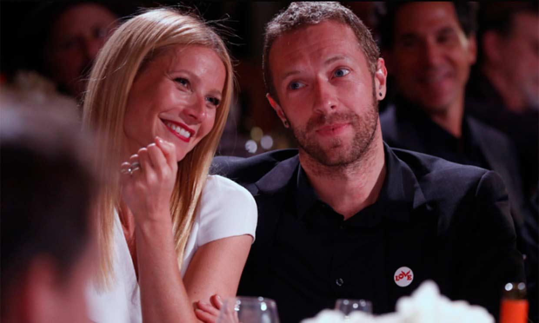 Gwyneth Paltrow incluye a su marido, Brad Falchuk, en una felicitación para Chris Martin