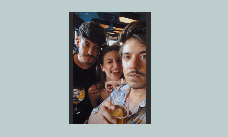 ¡La amistad sigue intacta! Ana Guerra, Cepeda y Roi brindan por el reencuentro