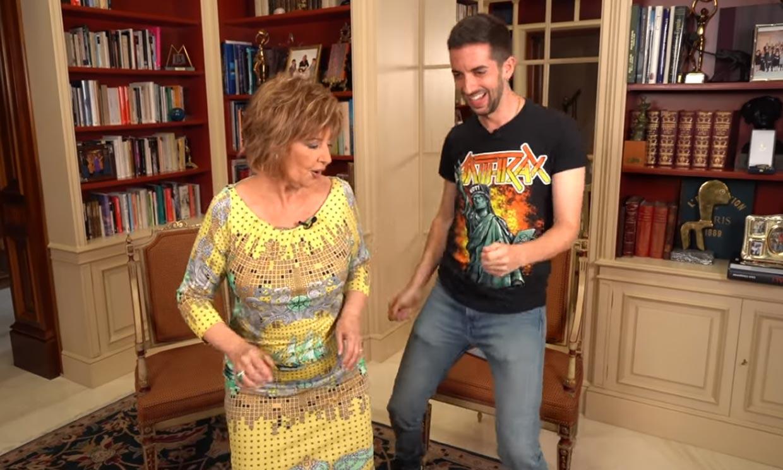 María Teresa Campos invita a David Broncano a su casa y ¡acaban 'perreando' al ritmo de Maluma!