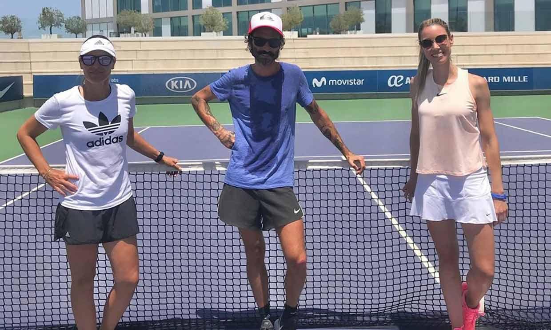 Maribel Nadal se enfrenta en la cancha de tenis a… ¡Leiva!