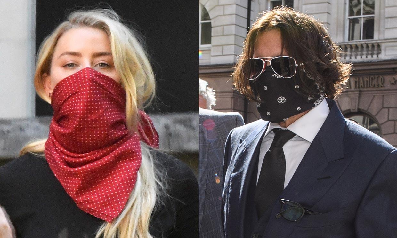 Johnny Depp y Amber Heard, cara a cara en los juzgados de Londres