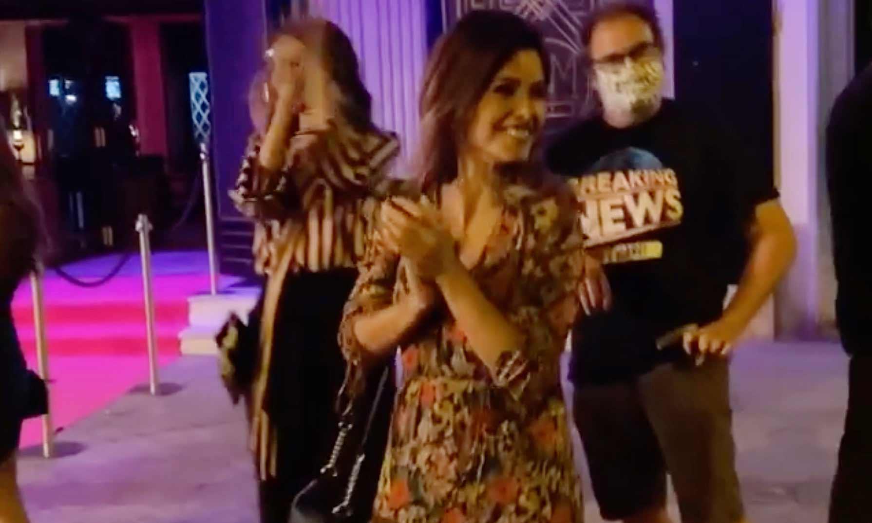 Mónica Cruz celebra con todo el equipo la última secuencia de 'La que se avecina'