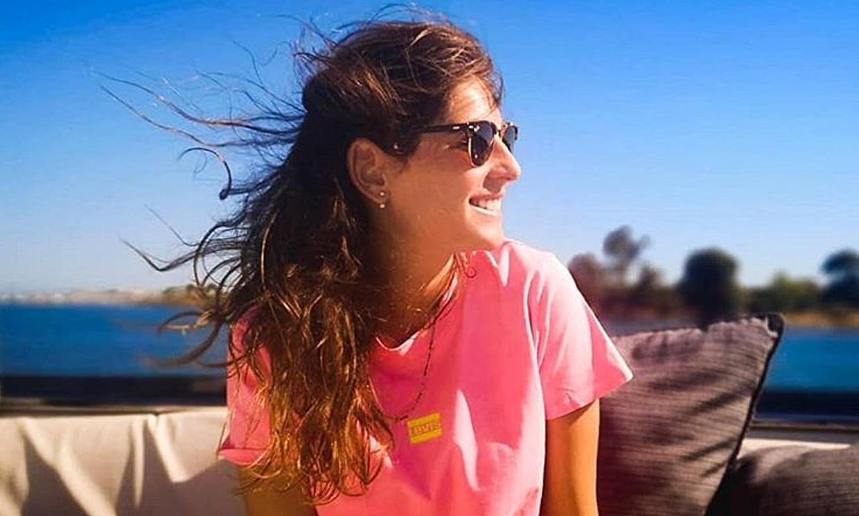 Lourdes Montes, lista para el 'running' gracias a su más dedicado (y tierno) ayudante