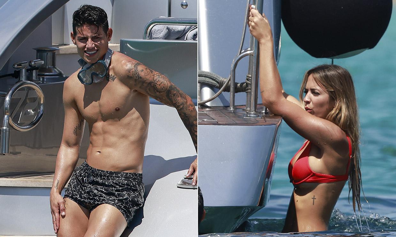 James Rodríguez y Shannon de Lima disfrutan de unas vacaciones en Ibiza