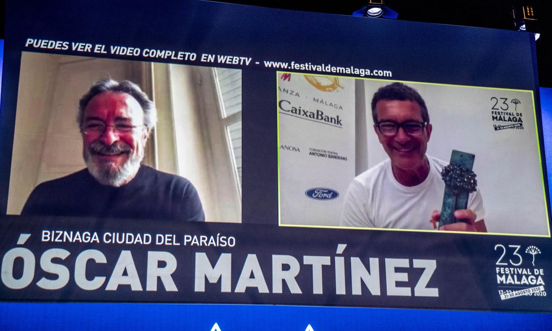 Antonio Banderas reaparece en el Festival de Málaga tras superar el coronavirus