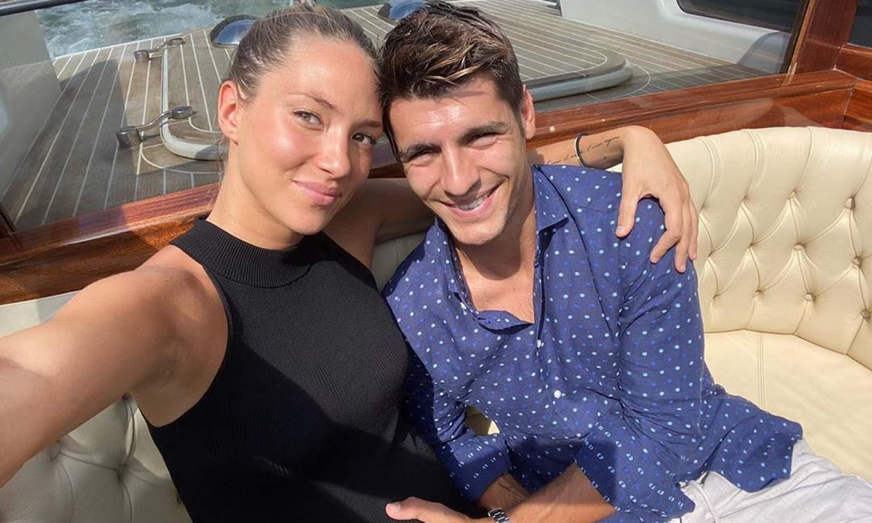 Álvaro Morata y Alice Campello reviven su boda a punto de ser padres de nuevo