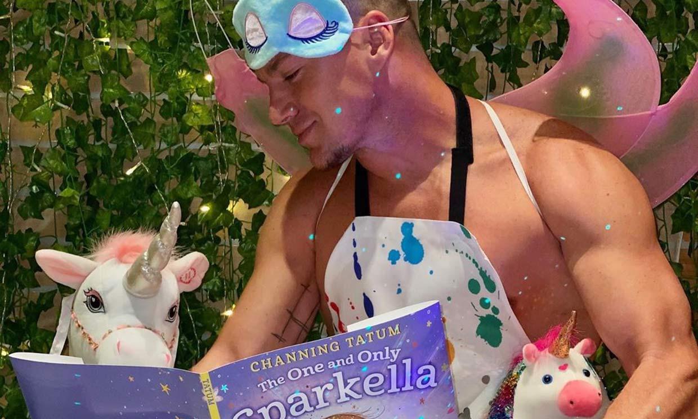 ¡Con alitas y todo! Channing Tatum se viste de hada en el lanzamiento de su libro infantil