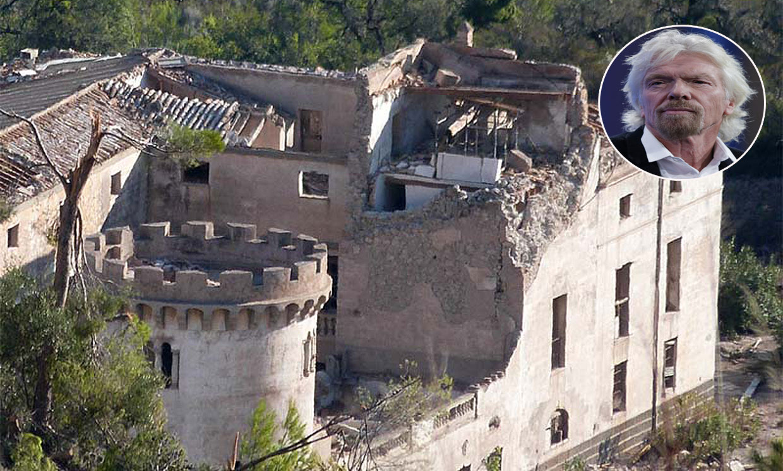 Una tormenta destroza la finca del magnate Richard Branson en Mallorca