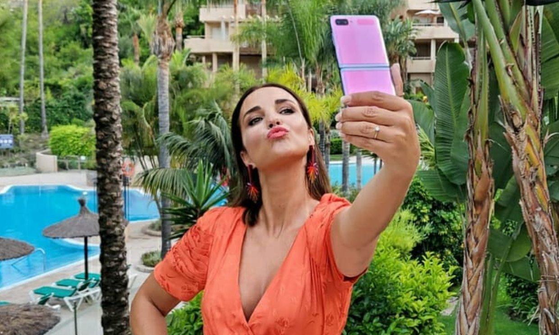 Paula Echevarría muestra el divertido 'making of' de su foto más arriesgada