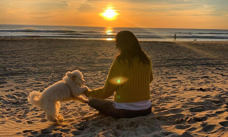 El emotivo brindis de Paz Padilla recordando a su marido en la playa donde se casaron