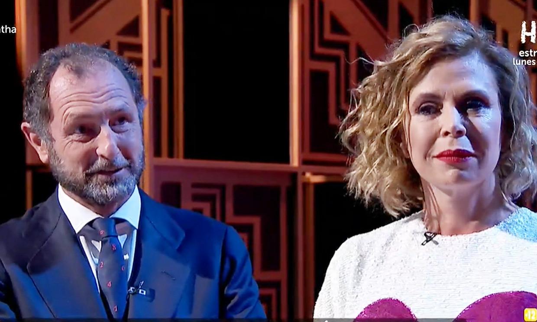 Luis Gasset sorprende a Ágatha Ruiz de la Prada en directo: 'Todo por verte sonreír'