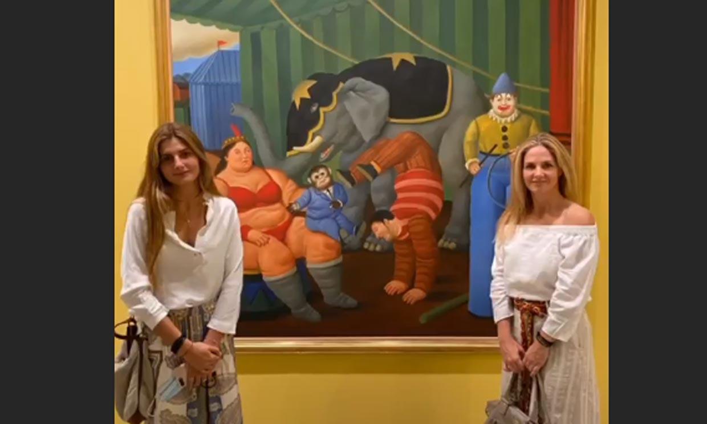 Genoveva Casanova presume de su hija Amina durante una tarde cultural