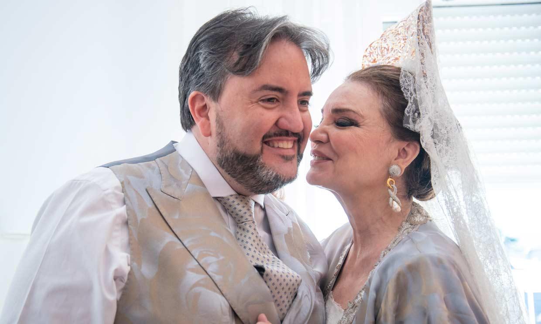 La felicidad de María José Cantudo en la boda de su hijo Manuel