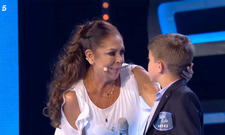 Isabel Pantoja sale al rescate de uno de los concursantes en 'Idol Kids'