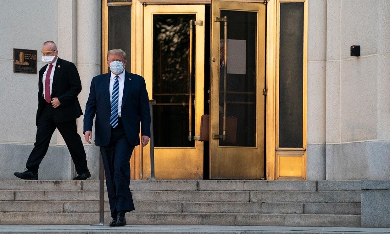 Donald Trump abandona el hospital cuatro días después de dar positivo por Covid-19, ¿y Melania?