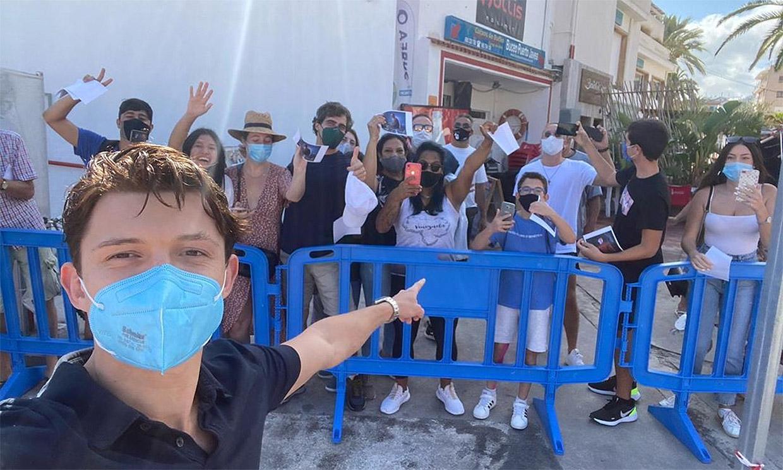 Tom Holland revoluciona Jávea (Alicante) durante el rodaje de su nueva película