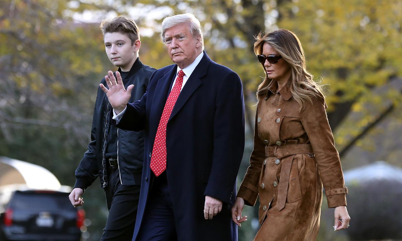 Barron, el hijo de Donald y Melania Trump, también ha tenido coronavirus