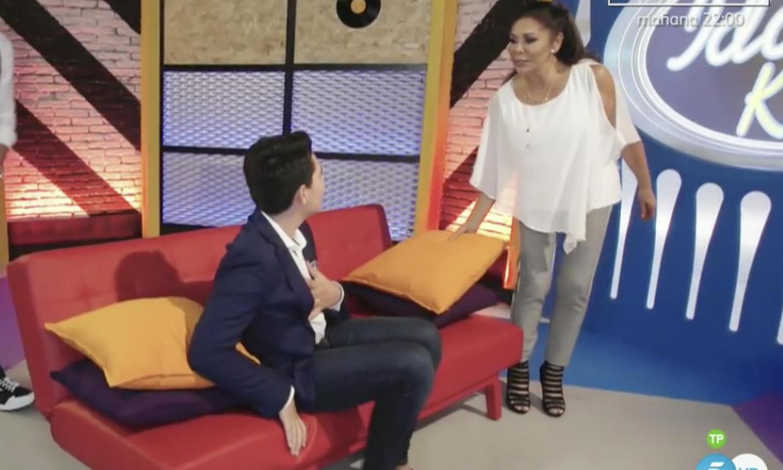 Isabel Pantoja sorprende a un fan muy nervioso en 'Idol Kids'