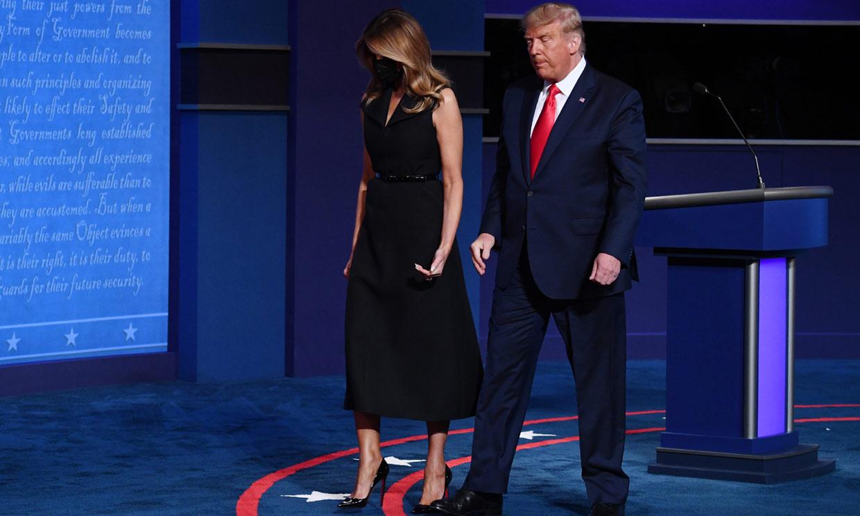 Melania Trump reaparece tras la cuarentena y, de nuevo, uno de sus gestos llama la atención