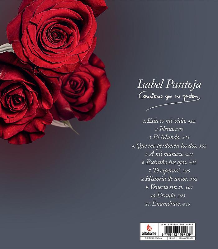 Contraportada del disco de Isabel Pantoja