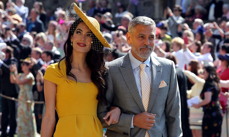 Revelado el gran secreto de George y Amal Clooney en la boda de los duques de Sussex