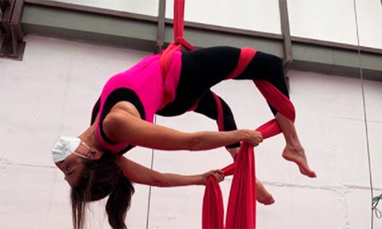 Como una artista de circo: Paz Padilla se supera a sí misma con sus acrobacias