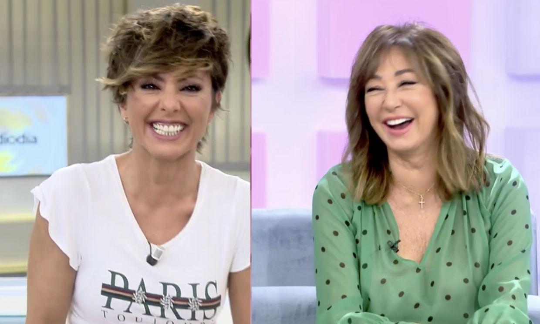 Un ataque de risa de Sonsoles Ónega y Ana Rosa les obliga a cortar la conexión en directo