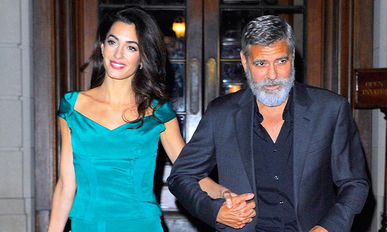George Clooney interrumpe una videollamada para charlar con su hijo Alexander