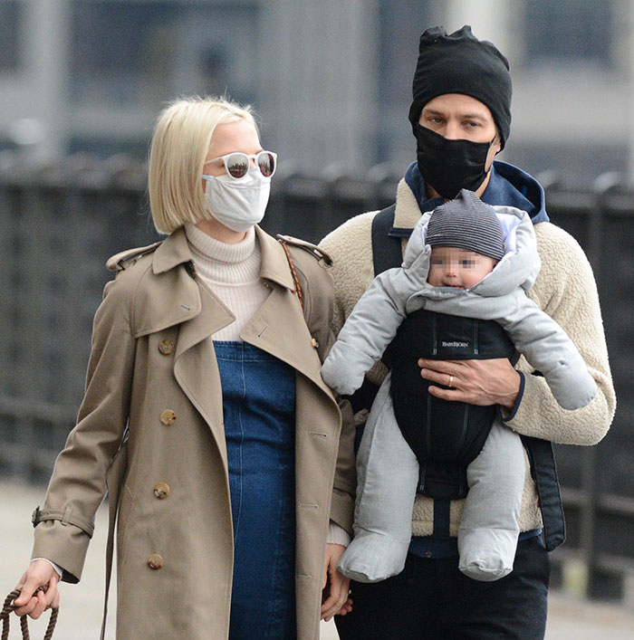 Michelle Williams with her husband and son