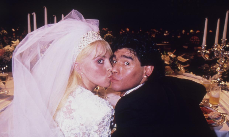 Recordamos la 'faraónica' boda de Maradona y Claudia Villafañe