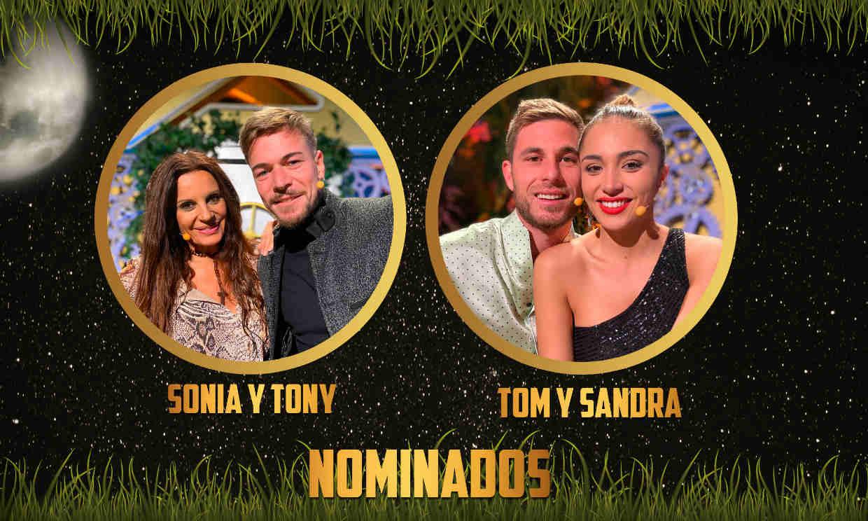 Sonia Monroy, Tony Spina, Tom y Sandra, nominados de 'La casa fuerte'