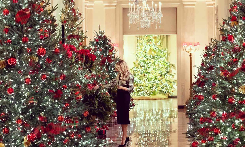 Donald y Melania Trump pasan sus últimas fiestas en la Casa Blanca: así han sido sus cuatro navidades