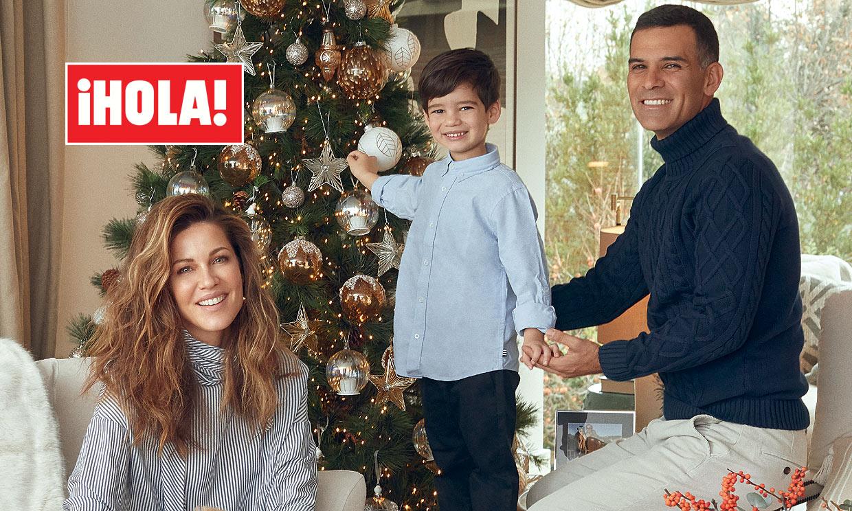 En ¡HOLA!, Jaydy Michel y Rafa Márquez posan, por primera vez, en familia en su nueva casa de Madrid