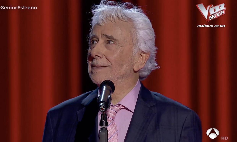Andrés Caparrós sorprende con su aparición en 'La Voz senior'