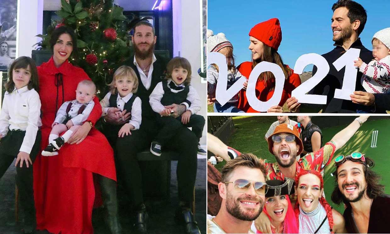 Disfraces, tradiciones y mucho amor, los posados familiares con los que las 'celebs' han recibido el nuevo año