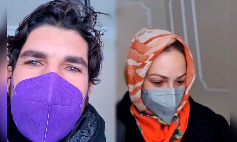 'Bienvenidos a Siberia', Cayetano Rivera y Eva González se quedan impactados con el fenómeno 'Filomena'