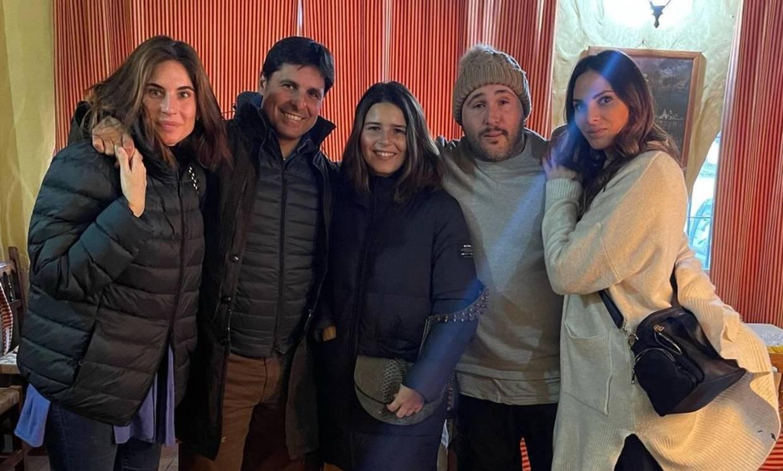 Tana Rivera se divierte con su padre, sus tíos y Lourdes Montes en un nuevo encuentro familiar