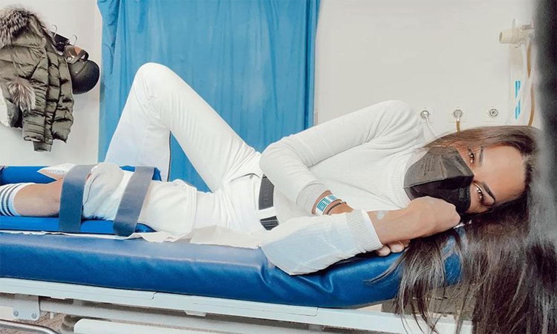 Carla Barber, trasladada al hospital tras sufrir un aparatoso accidente en la nieve
