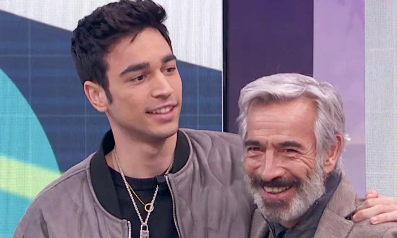 Imanol Arias, sorprendido por su hijo Daniel en directo