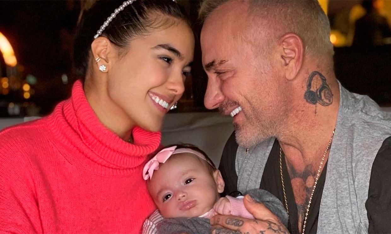 ¿A quién se parece la hija de Gianluca Vacchi y Sharon Fonseca? La venezolana lo tiene claro
